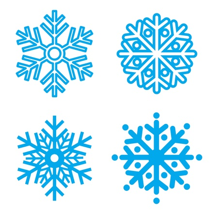 iceflower: Snowflakes collection. Element for design. Vector  illustration