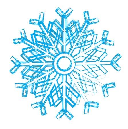 iceflower: Snowflake. Element for design. Vector  illustration Illustration