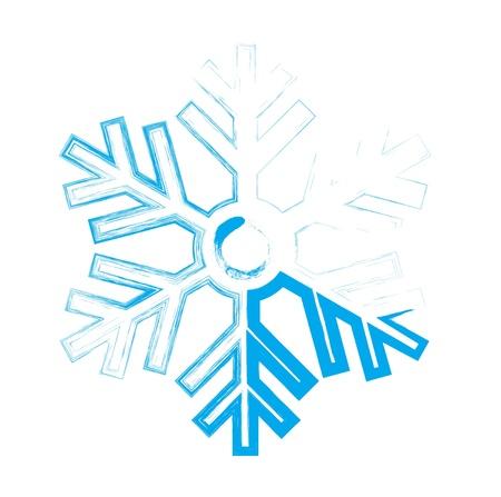iceflower: Fiocco di neve. Elemento di design. Illustrazione vettoriale Vettoriali
