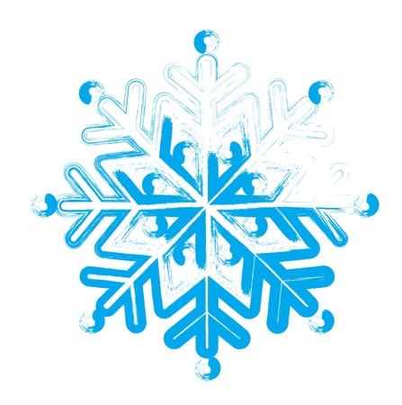 iceflower: Snowflake. Element for design. Vector  illustration Illustration