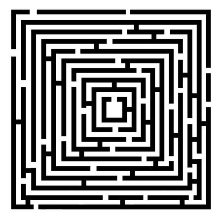 maze puzzle: 2d black maze. vector