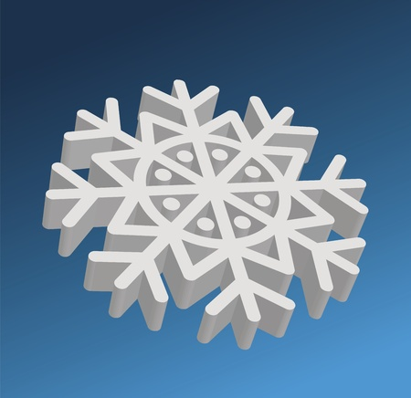 Snowflake. Element for design. Vector  illustration