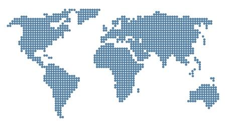 Atlas: Vernarrt Weltkarte. Vektor-Illustration