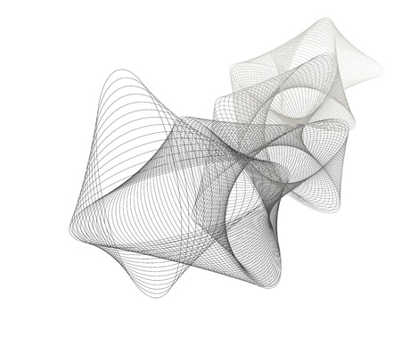 Vector illustration of abstract lined art  Vector