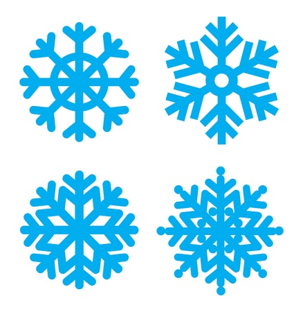 x mas parties: Snowflakes collection. Element for design. Vector  eps8