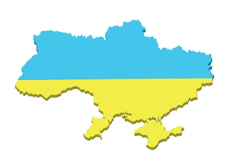 Vector map of Ukraine. Stock Vector - 12307760