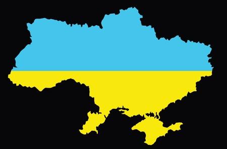 Vector map of Ukraine. Vector