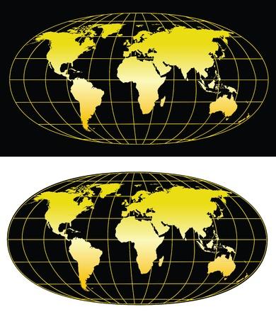 glob: High detailed world map 5000x5774. Illustration