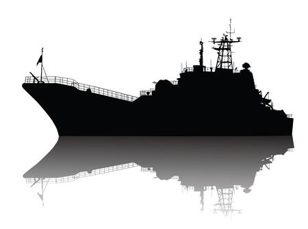 Soviet  russian  landing ship silhouette