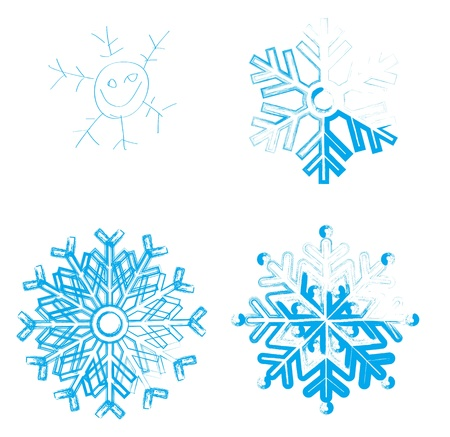 iceflower: Snowflake  Element for design  Stock Photo