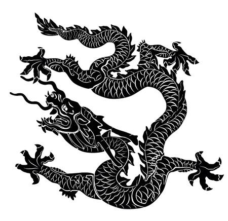 dragon chinois: Black Dragon illustration isol�