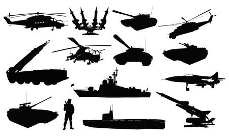 misil: Altas detalladas sovi�ticos siluetas militares rusos