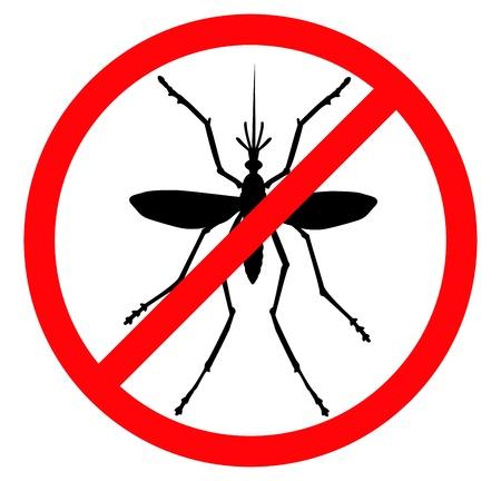 malaria: Mosquito вектор силуэт насекомого эмблема reppelent Иллюстрация