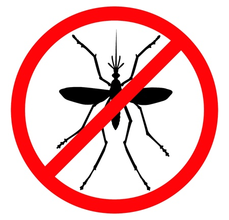 malaria: Mosquito vector silhouette  Insect reppelent emblem