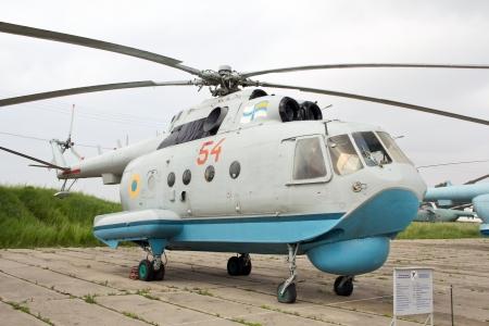 KYIV, UKRAINE- MAY 16  Mil Mi-14 Haze Soviet�anti-submarine�helicopter  at State Aviation Museum  on May 16, 2012 in Kyiv, Ukraine