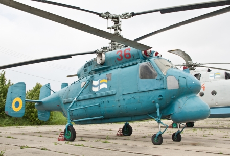 KYIV, UKRAINE- MAY 16  Kamov Ka-25 Hormone Soviet�anti-submarine�helicopter  at State Aviation Museum  on May 16, 2012 in Kyiv, Ukraine