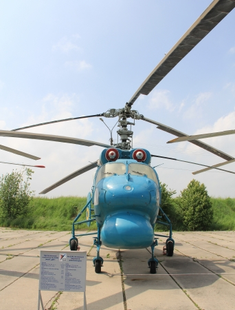 KYIV, UKRAINE- MAY 16  Kamov Ka-25 Hormone Soviet�anti-submarine�helicopter  at State Aviation Museum  on May 16, 2012 in Kyiv, Ukraine Stock Photo - 13692122