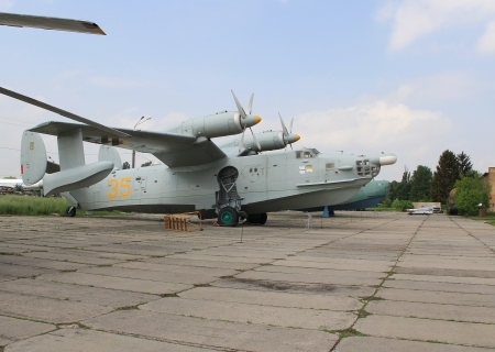KYIV, UKRAINE- MAY 16  Ukrainian Naval Aviation Beriev Be-12 aircraft at State Aviation Museum  May 16, 2012 in Kyiv, Ukraine