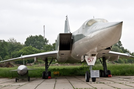 KYIV, UKRAINE- MAY 16  Tupolev  Tu-22M3  Backfire-C Soviet supersonic strategic and maritime strike bomber   at State Aviation Museum  May 16, 2012 in Kyiv, Ukraine