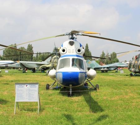 KYIV, UKRAINE- MAY 16: Mil Mi-2 Hoplite Soviet light  transport helicopter at State Aviation Museum  on May 16, 2012 in Kyiv, Ukraine