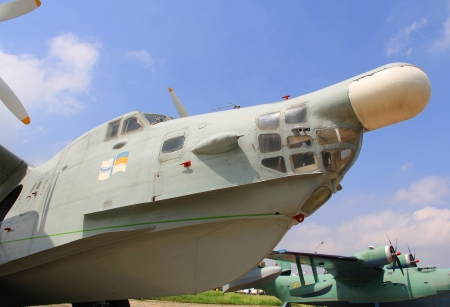 KYIV, UKRAINE- MAY 16: Beriev Be-12 Mail Soviet turboprop anti-submarine aircraft at State Aviation Museum  May 16, 2012 in Kyiv, Ukraine
