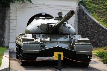 cold war: KIEV, UKRAINE- MAY 16: T-10 (Object 730) Soviet Cold War heavy tank in Museum of the Great Patriotic War,  May 16, 2012 in Kiev, Ukraine