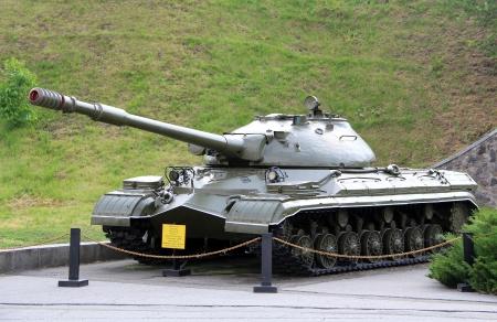 KIEV, UKRAINE- MAY 16: T-10 (Object 730) Soviet Cold War heavy tank in Museum of the Great Patriotic War,  May 16, 2012 in Kiev, Ukraine Stock Photo - 14129876