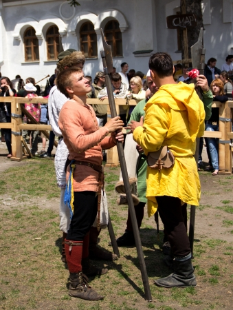 KAMYANETS-PODILSKY- JUNE 2: Forpost (The Outpost) Festival of Medieval Culture on June 2, Ukraine