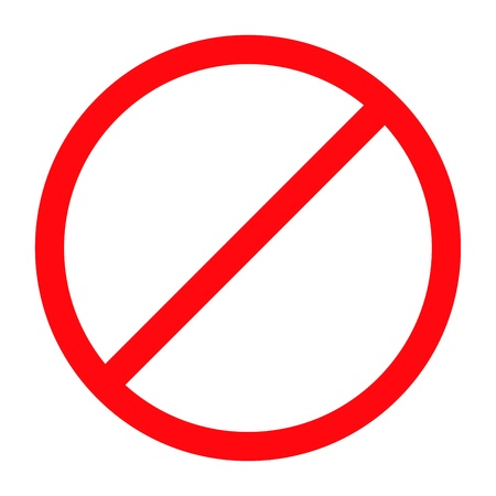 road ring: Forbidden sign isolated