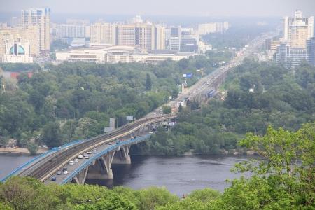 Metro bridge in Kyiv, Ukraine Editorial