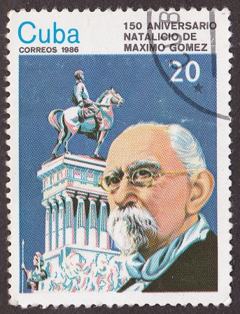 maximo: CUBA - CIRCA 1986: A post stamp printed in Cuba  devoted to Maximo Gomez. Circa 1986 Editorial