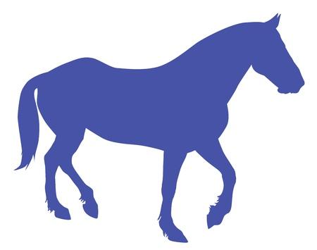 trotando: Correr caballos silueta detallada.