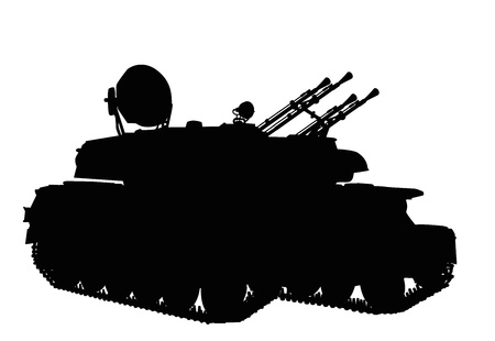 panzer: Silhouette of  anti-aircraft weapon system