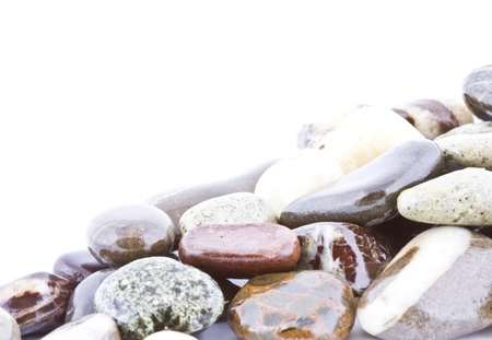 Copy space on wet pebble stones natural background Stock Photo - 14680725