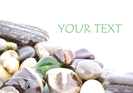 Copy space on wet pebble stones natural background  Stock Photo - 14680730