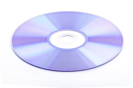 CD rom isolated on white background photo