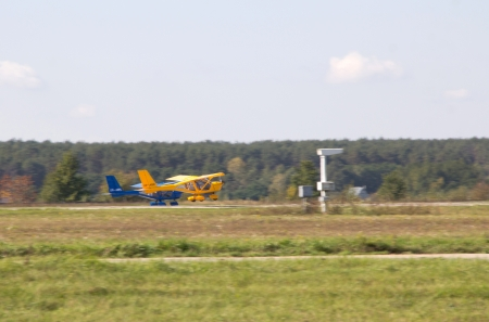 livery: KYIV, UKRAINE - SEPTEMBER 29: Aeroprakt A-22 light aircraft during 8th International Aviation Salon AVIASVIT-XXI;September  29, 2012 in Kyiv, Gostomel Airfield, Ukraine