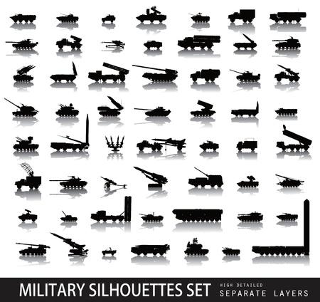 Altas siluetas militares se detallan en el Ilustración de vector