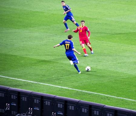 qualifier: KYIV, UKRAINE - OCTOBER 16: Taras Mykhalyk  during World Cup Qualifier Ukraine vs. Montenegro on October 16, 2012 in Olympiysky Stadium, Kyiv, Ukraine Editorial