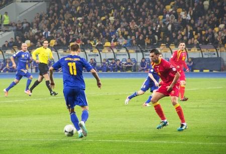 qualifier: KYIV, UKRAINE - OCTOBER 16: Ukraine vs. Montenegro during World Cup Qualifier on October 16, 2012 in Olympiysky Stadium, Kyiv, Ukraine