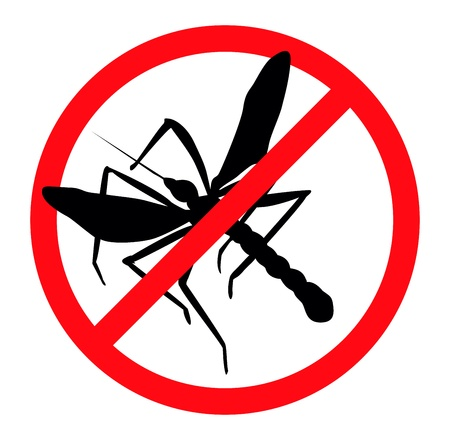 controlling: Mosquito silhouettes isolated. Insect repellent emblem Illustration