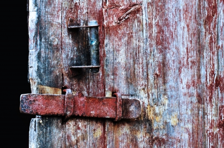 Vintage wooden door close up. Stock Photo - 16130541