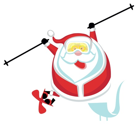 Cartoon  Santa freestyler .Separate layers Stock Vector - 16568305