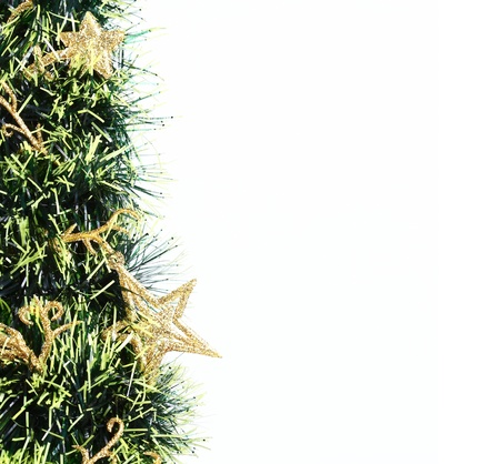 Christmas tree background with copy space photo