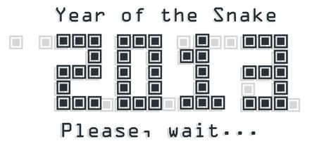 snake year: 2013 Serpiente dise�o del a�o en la ilustraci�n Vectores