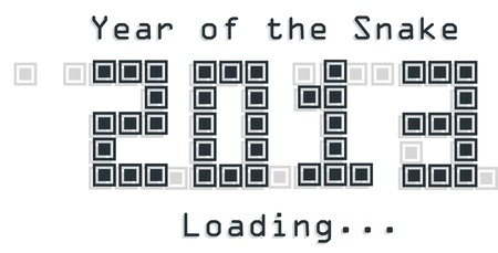 e new: 2013 Snake year design  on illustration
