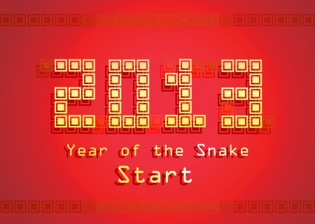 2013 Year of the Snake design  Vector illustration Vector