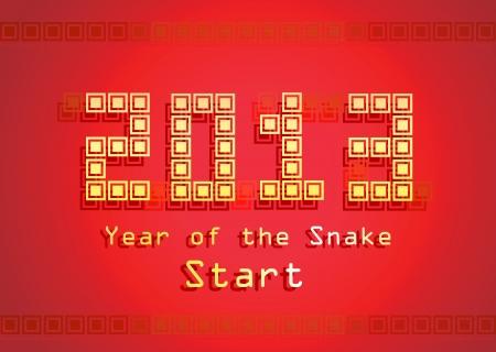 2013 Year of the Snake design  Vector illustration Stock Vector - 17350098