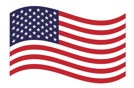 United States  flag waving  Vector
