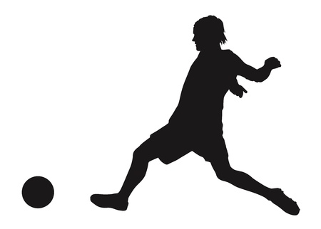 Soccer player detailed vector silhouette  Sports design Vector